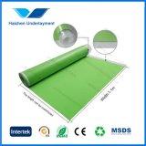 alfombra verde de la arpillera de la espuma de 3m m EVA para el suelo laminado