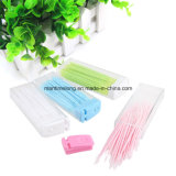 50PCS Portable Plastic Toothpicks und Brush in Clear Fall