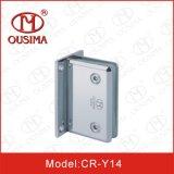 Charnière de porte en verre en alliage de zinc de 0 degrés utilisée dans la chambre de douche (CR-Y14)