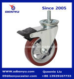 "4 "" Swivel Caster mit Plate und Double Brake sperrend"
