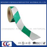 Клейкая лента маркировки зеленой и белой конструкции нашивки отражательная (C1300-S)