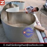 Correia transportadora de aço para o uso do transporte do alimento