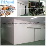 Cella frigorifera personalizzata del poliuretano per i pesci ed i frutti di mare con buon condensando unità