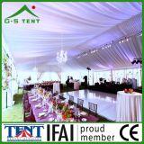 Grande tenda di cerimonia nuziale della tenda foranea del baldacchino della struttura del tessuto bianco