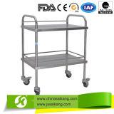 Trole médico /Cart do tratamento do aço inoxidável do hospital da alta qualidade Skh003
