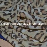 Tela Chiffon atractiva impresa leopardo del tacto suave para la señora