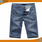 A sarja de Nimes do Mens do tipo Shorts calças curtas do estiramento do Short de Jean azul