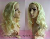 최신 판매 꼬부라진 가발 Remy 여성 머리 형식 합성 물질 가발