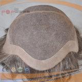 Premier plein Toupee mono de lacet de cheveux humains