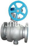 API CF8M muñón montado en la válvula de bola