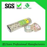Ruban adhésif acrylique à base d'eau clair/jaunâtre transparent de BOPP