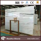 Камень сляба китайской мраморный панды белый мраморный