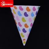 Costume descartável cone impresso da água do alimento do Livro Branco