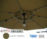 Deluxe al aire libre Sombrilla Sombrilla para el patio con LED