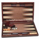 Jogo de madeira luxuoso do Backgammon