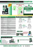 Líneas verdes de la herramienta cinco del nivel del laser de viga correspondidas con con la batería de la potencia de la alta capacidad