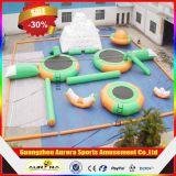 Sosta di galleggiamento gonfiabile gigante dell'acqua, galleggiamento gonfiabile commerciale della sosta dell'acqua