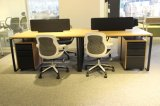 Mesa de computador de madeira elegante para 2 pessoas