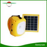 Luz ao ar livre de acampamento solar portátil do diodo emissor de luz da emergência da lanterna com cobrar do telefone móvel
