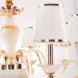 Verlichting van de Kroonluchter van de Tegenhanger van het ijzer de Lichte met de Lampekap van het Glas (D-6103/8)