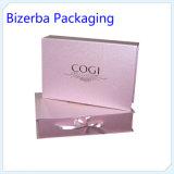Rectángulo de regalo de empaquetado de papel de la cartulina al por mayor de encargo para el cosmético
