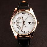 Wristwatch кварца дела 3 людей индикации секунд классицистических