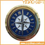 工場高品質の渦巻の端(YB-c-016)が付いている軍の金属の硬貨