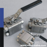 Flansch, Thread, Butt Weld 3 Three Piece Ball Valve mit HF, NPT, Bsp oder Bw Ende