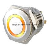 Schakelaar van de Drukknop van het Metaal van Momentay de Ring Verlichte (16mm, 19mm, 22mm, 25mm, 30mm)