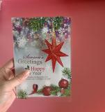 カスタム印刷のプラスチック挨拶状(祝祭のカード)