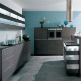Gabinete de cozinha modular de madeira