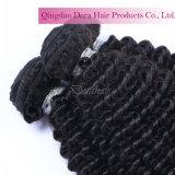 Cheveu non transformé noir normal de trame péruvien de bonne qualité de Vierge de cheveux humains