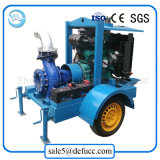 Bomba de agua centrífuga de gran capacidad del motor diesel de la sola succión
