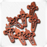 Collar del rosario con la cruz de madera/el crucifijo de madera (IO-cw021)