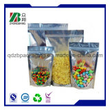 Sac de empaquetage zip-lock comique en plastique de catégorie comestible avec la tirette pour le conditionnement des aliments
