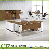 Scrittorio di legno del gestore esecutivo a forma di L della scrivania per una persona