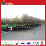 De la cerca lateral de la jaula acoplado de acero semi para el transporte de cargo a granel