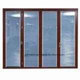 Puertas de aluminio de la doble vidriera Construir-en el obturador (HM-822)