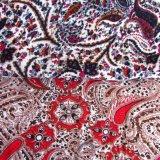 As mulheres imprimiram a tela de rayon do vestido da fábrica de matéria têxtil