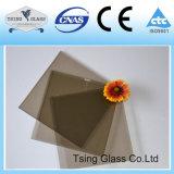 Glace en verre incurvée plate forée de Temperedtoughend de construction noire en bronze avec la qualité