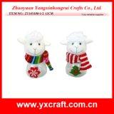 Decoración del juguete de las ovejas de la mascota de la suerte de la Navidad de la decoración de la Navidad (ZY14Y694-1-2)