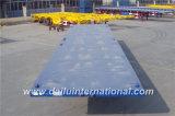3 Semi Aanhangwagen van het Vervoer van de Container van assen 40FT Flatbed in Blauw