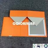 Caja de embalaje plegable del regalo de papel de Oronge de la alta calidad con el encierro del imán