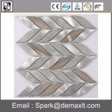 葉パターン水晶組合せの金属のモザイク