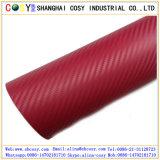 vinil da fibra do carbono do preto e das cores de 3D /4D/5D