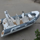 Venda inflável do barco do reforço do motor do barco de Liya 5.2m PVC/Hypalon