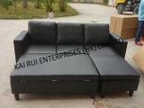 PVC黒い現代ホーム家具の普及した角のソファー