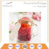1500ml rimuovono il vaso di vetro della caramella con la protezione del metallo
