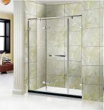 優雅で簡単なシャワー・カーテンのステンレス鋼304の蝶番を付けられたシャワーのドア