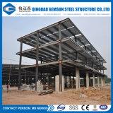 Edificio prefabricado del almacén de la estructura de acero con el Godown
